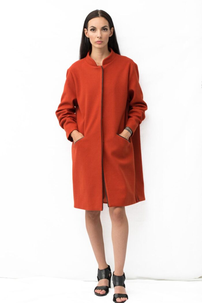 fold back coat