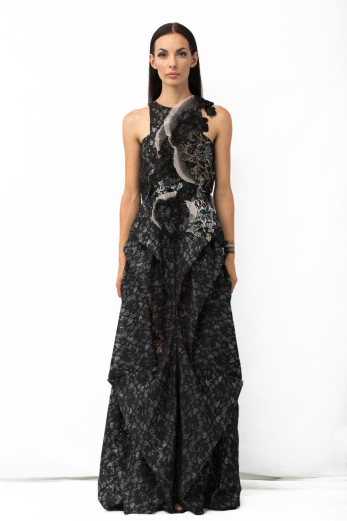 origami long dress tipo