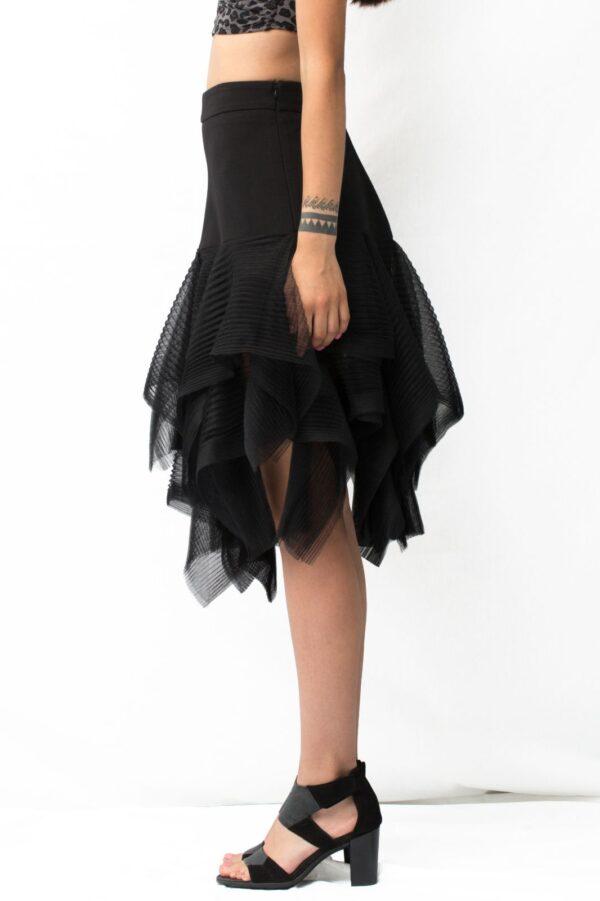 multilayered tulle skirt