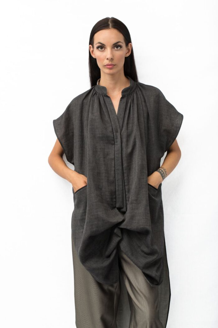 double face origami tunic