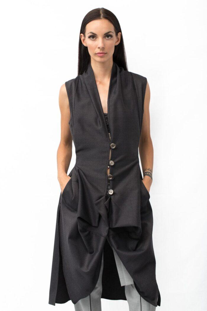 origami waistcoat front