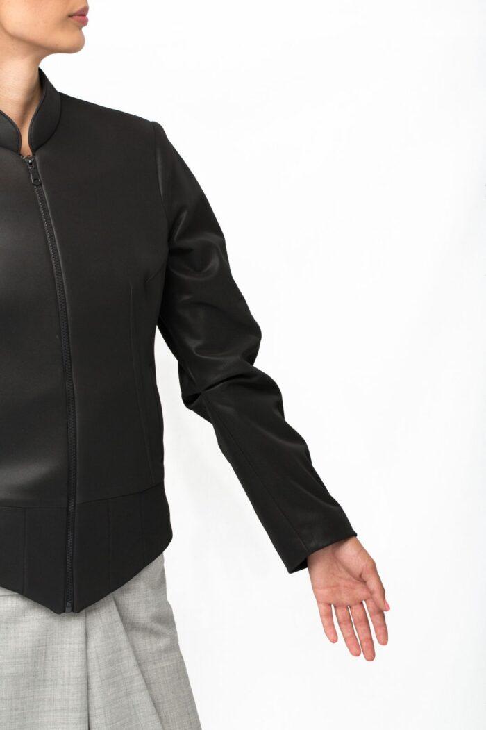 bikers kacket sleeve pleat