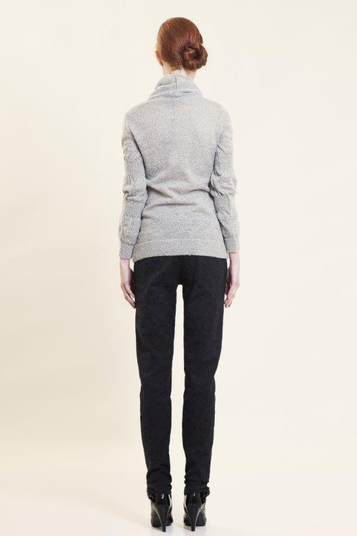 sausage sleeve knitted top back