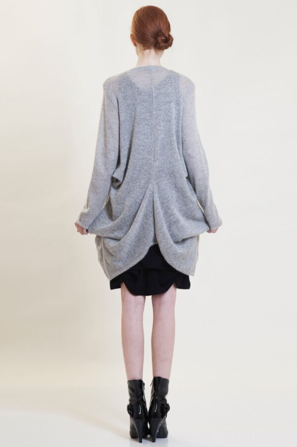 knitted lily long cardigan front