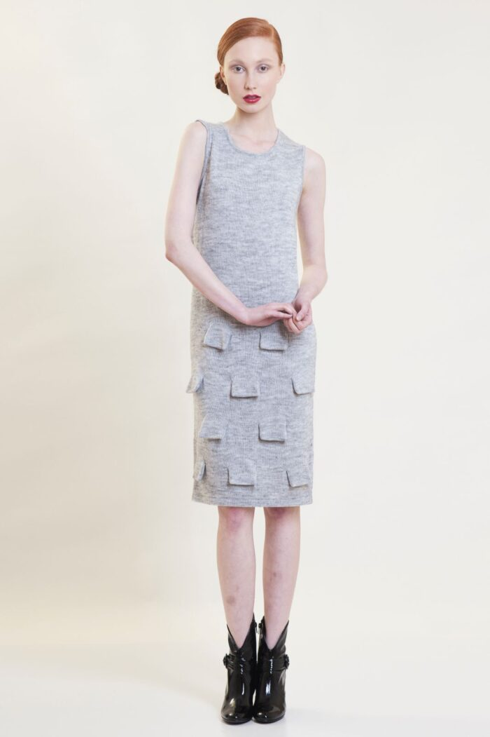 knitted scale dress