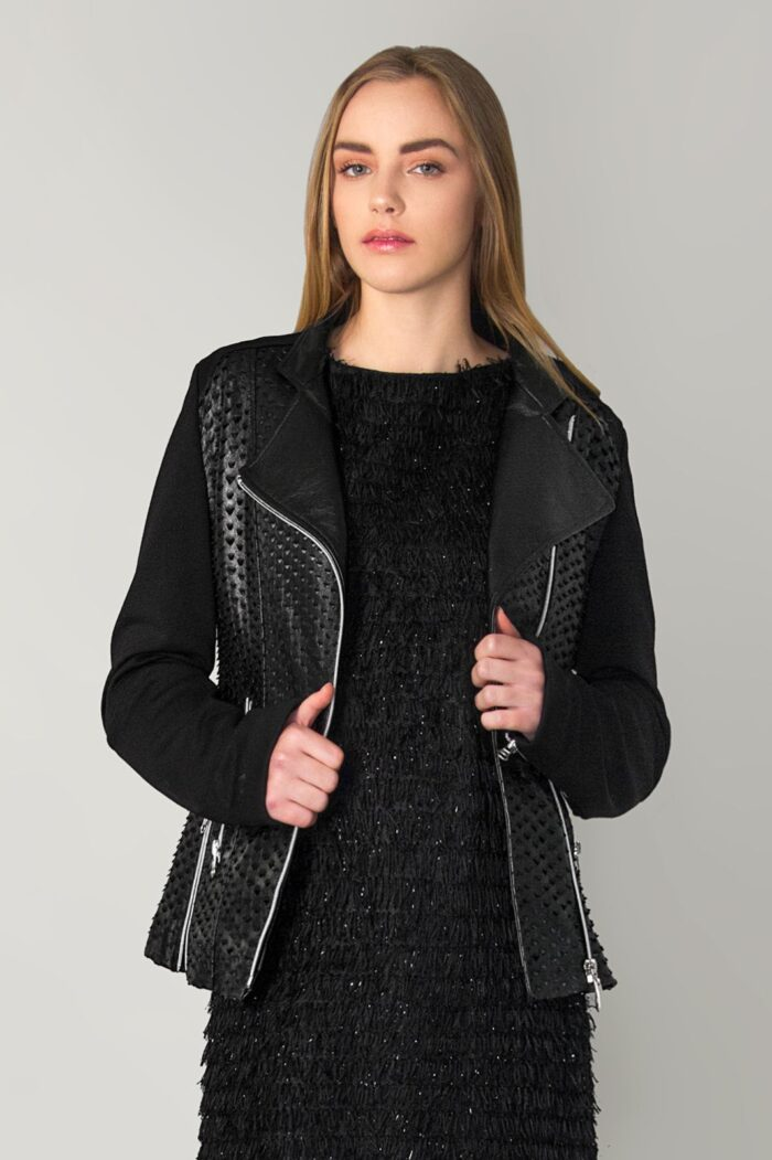 leather scale perfecto jacket