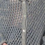 Perforated blue knit