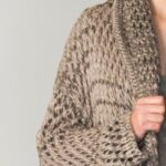 Perforated sandre knit