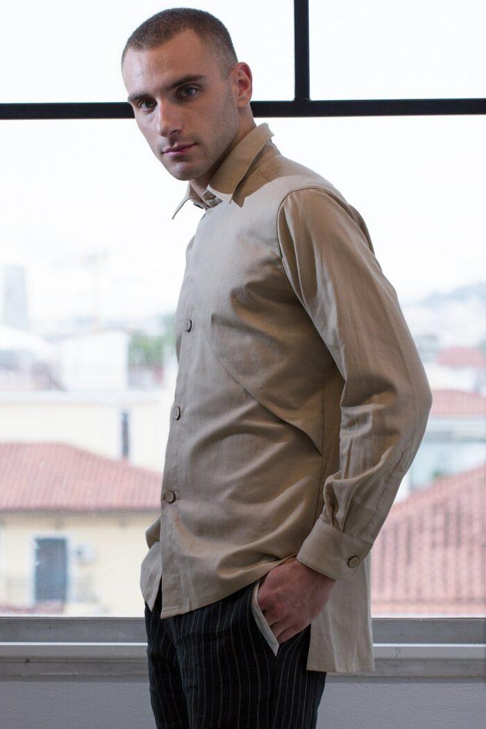 assymetric mens shirt