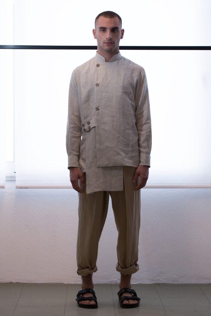 multilayered men shirt -003