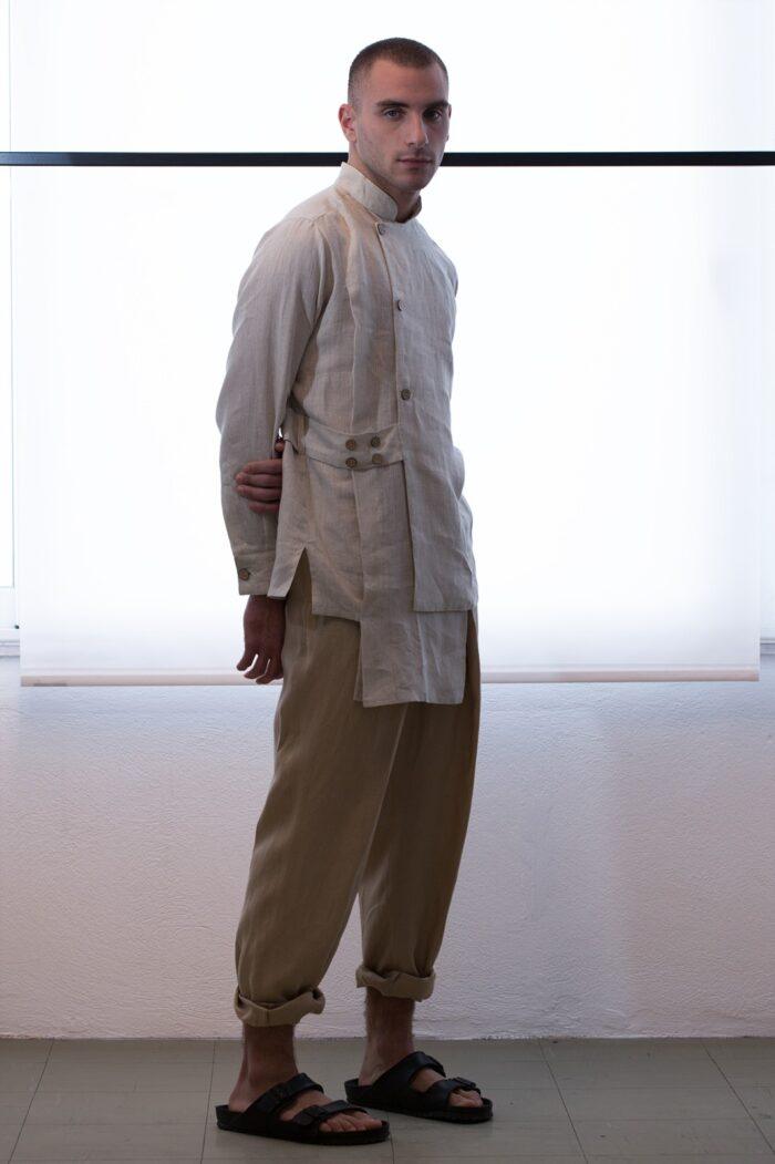 multilayered men shirt -004