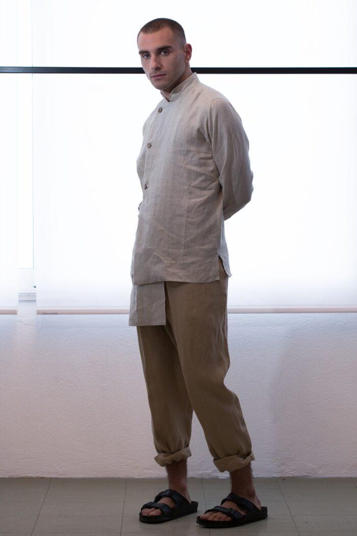 multilayered men shirt -005