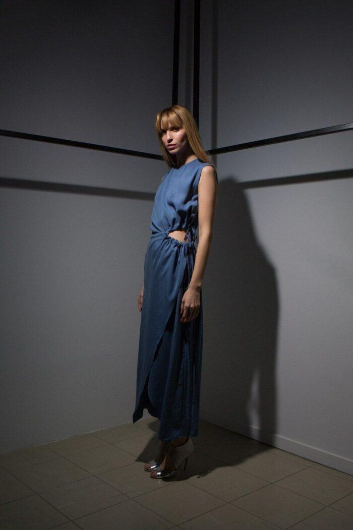 Open Side Long dress 2