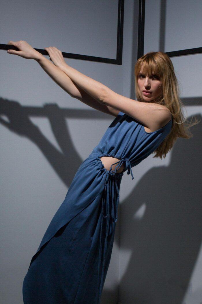 Open Side Long dress 3
