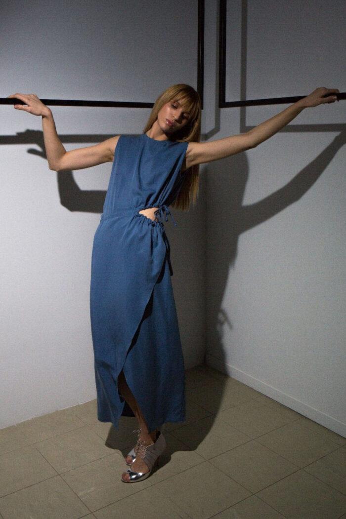 Open Side Long dress 4