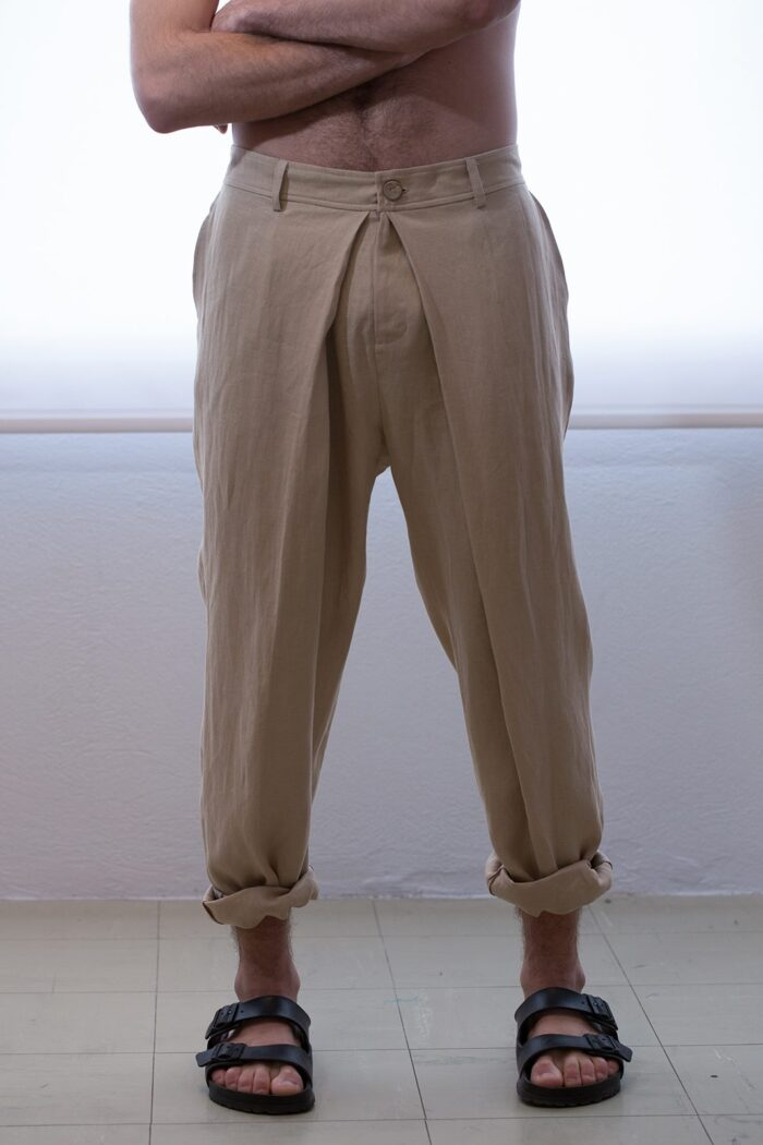 front pleated mens pants
