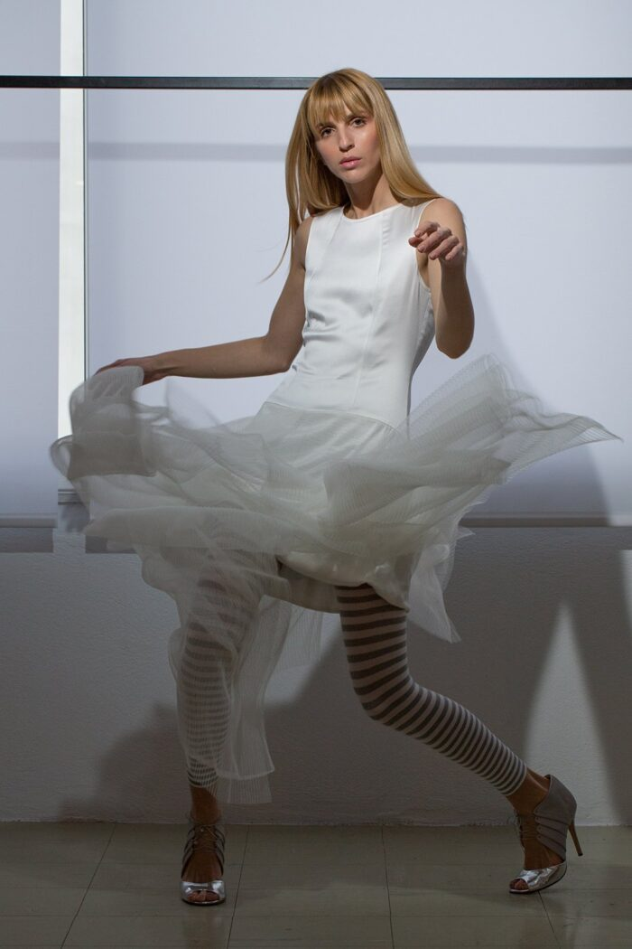 multilayered tulle dress